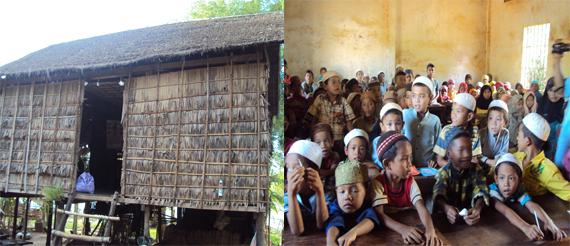 Rumah dan anak-anak muslim Kamboja